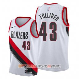 Camiseta de la Anthony Tolliver #43 Portland Trail Blazers Association Blanco