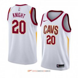 Camiseta de la Brandon Knight #20 Cleveland Cavaliers Association 2018 Blanco