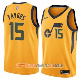 Camiseta de la Derrick Favors #15 Utah Jazz Statement 2018 Amarillo