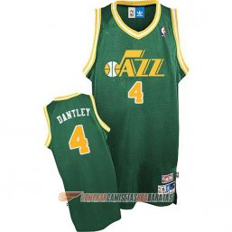 Camiseta de la Dantley #4 Utah Jazz Retro Verde