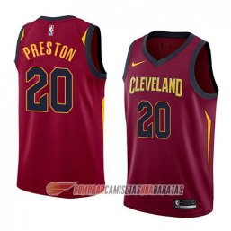 Camiseta de la Billy Preston #20 Cleveland Cavaliers Icon 2018 Rojo