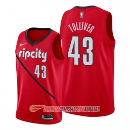 Camiseta de la Anthony Tolliver #43 Portland Trail Blazers Earned Rojo