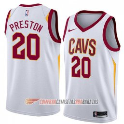 Camiseta de la Billy Preston #20 Cleveland Cavaliers Association 2018 Blanco