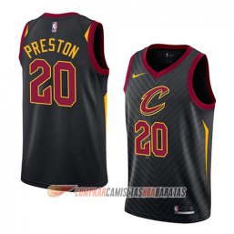 Camiseta de la Billy Preston #20 Cleveland Cavaliers Statement 2018 Negro