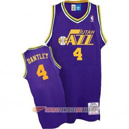 Camiseta de la Dantley #4 Utah Jazz Retro Purpura
