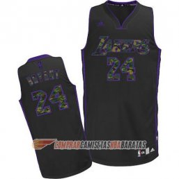 Camiseta de la Bryant #24 Los Angeles Lakers Camuflaje Moda