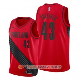 Camiseta de la Anthony Tolliver #43 Portland Trail Blazers Statement Rojo