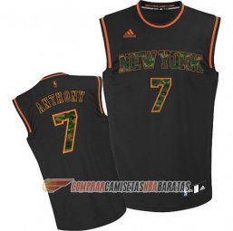 Camiseta de la Anthony #7 New York Knicks Camuflaje Moda