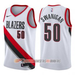 Camiseta de la Caleb Swanigan #50 Portland Trail Blazers Association 2017-18 Blanco
