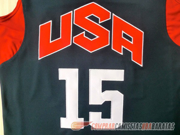 Camiseta de la Anthony #15 USA 2012 Negro